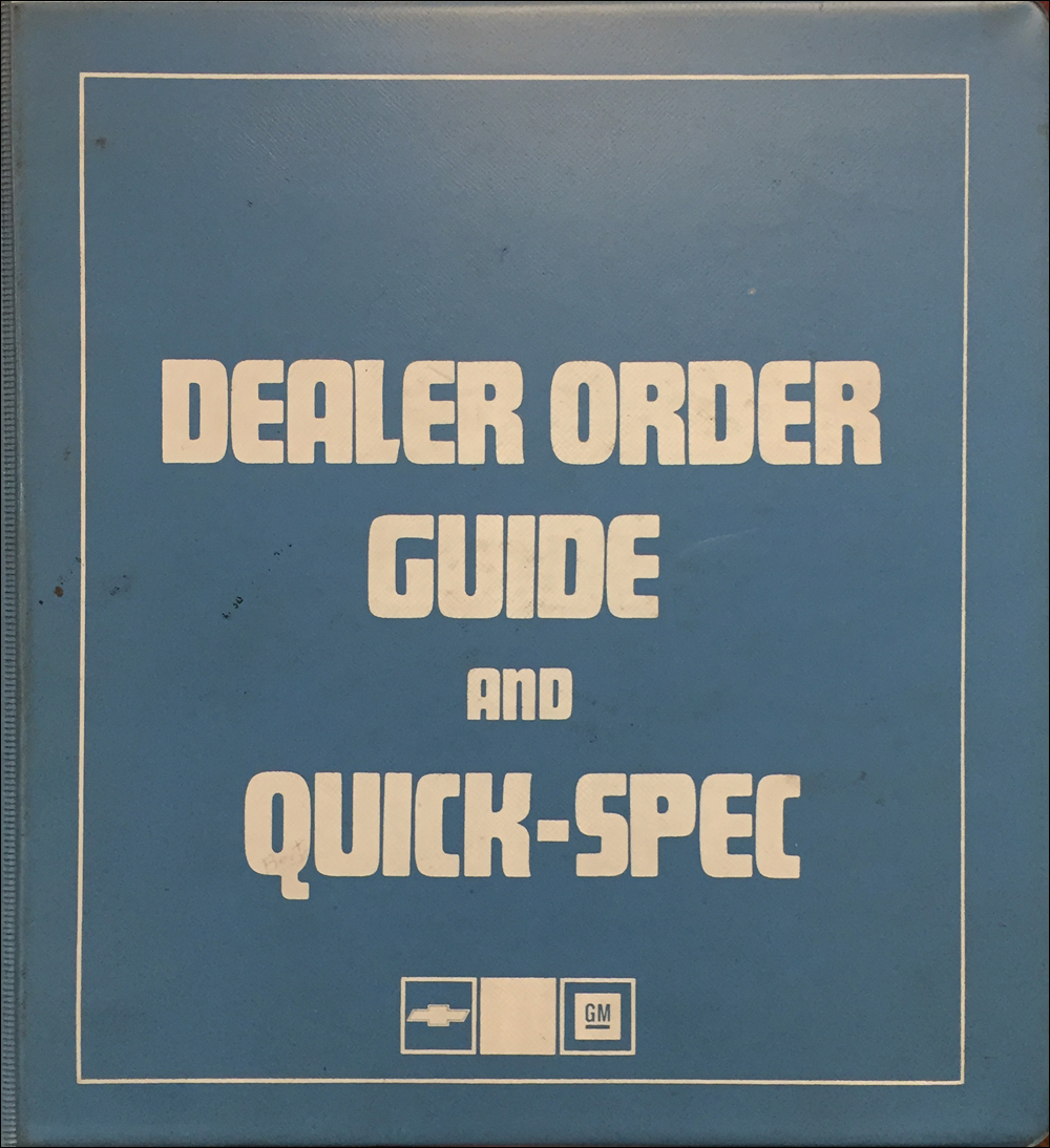 1984 Chevrolet Order Guide Dealer Album Original