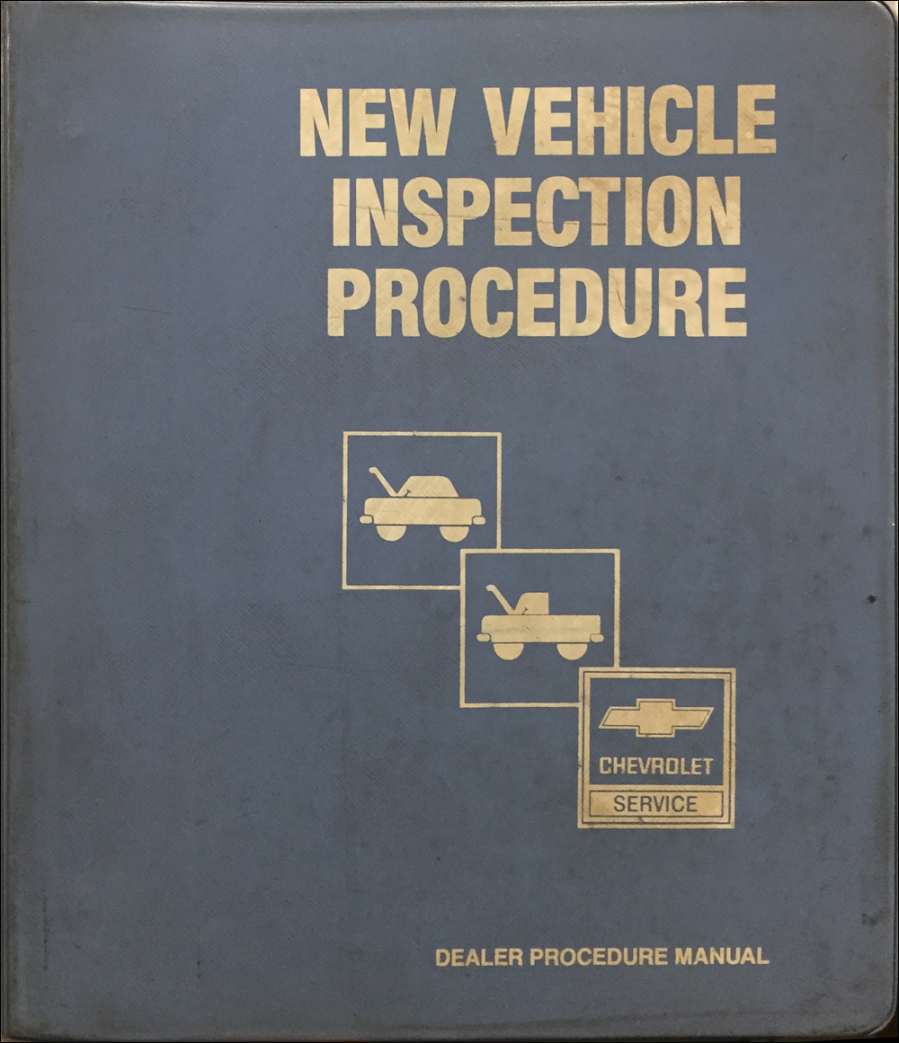 1984 Chevrolet Vehicle Inspection and Delivery Procedures Manual Original