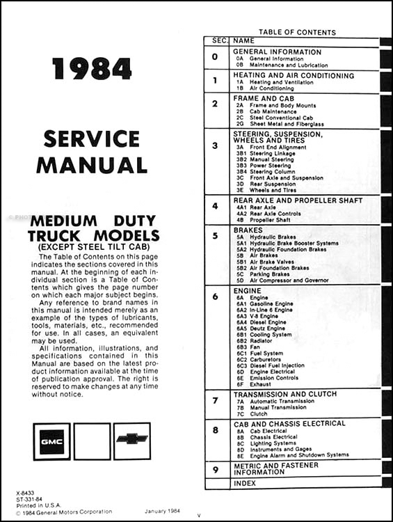 1986 gmc 7000 wiring diagram
