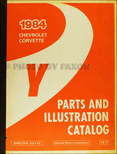 1984 Chevrolet Corvette Parts Book Original