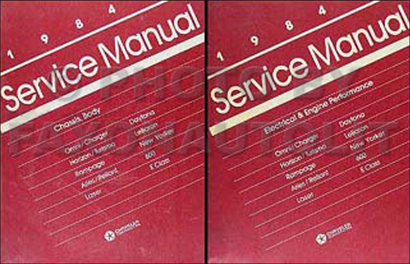 1984 MoPar FWD Car Repair Manual 2 Vol Set