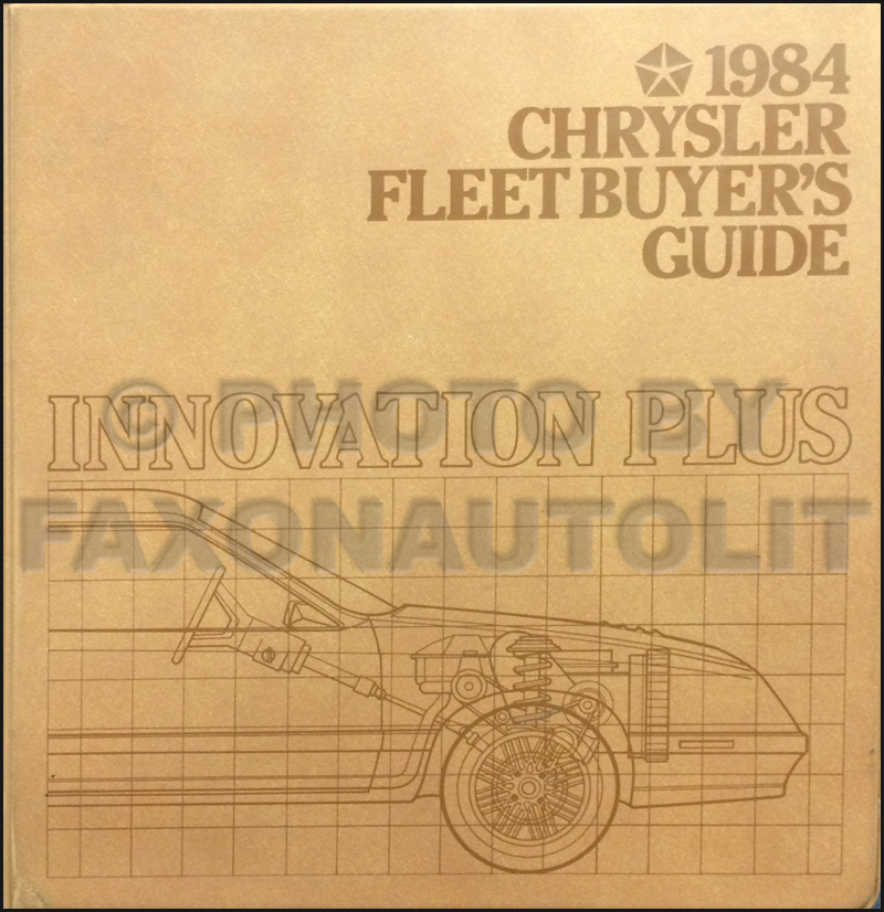 1984 Chrysler Plymouth Dodge Fleet Buyer's Guide Original
