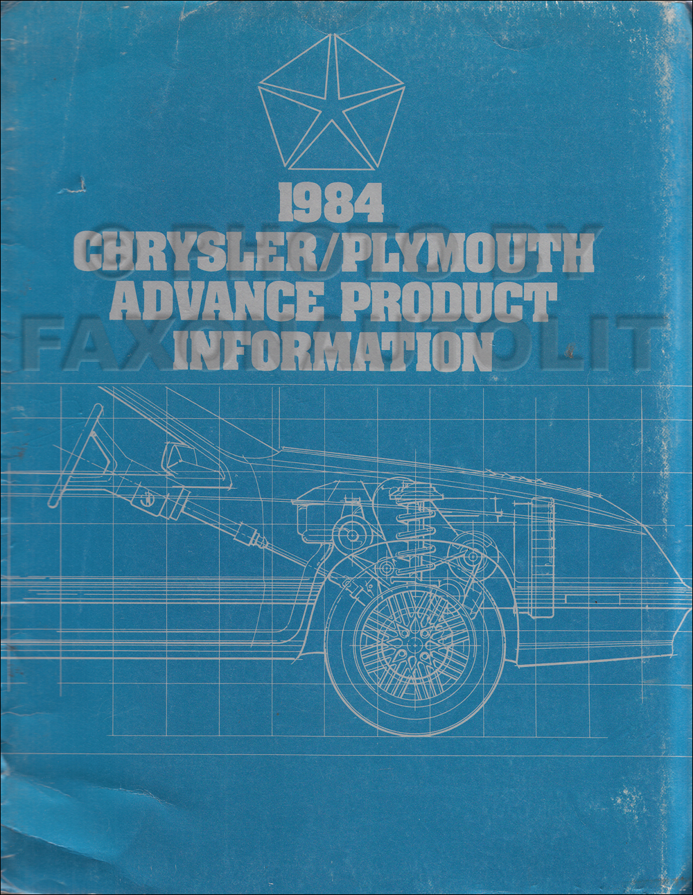 1984 Chrysler Plymouth Advance Color and Uphostery Album Data Book Original