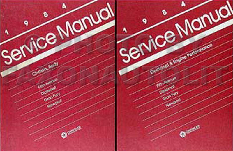 1984 RWD Car Repair Shop Manual Set Fifth Avenue Diplomat Mirada Gran Fury
