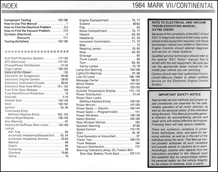 1984 lincoln continental mark vii electrical troubleshooting manual rh faxonautoliterature com