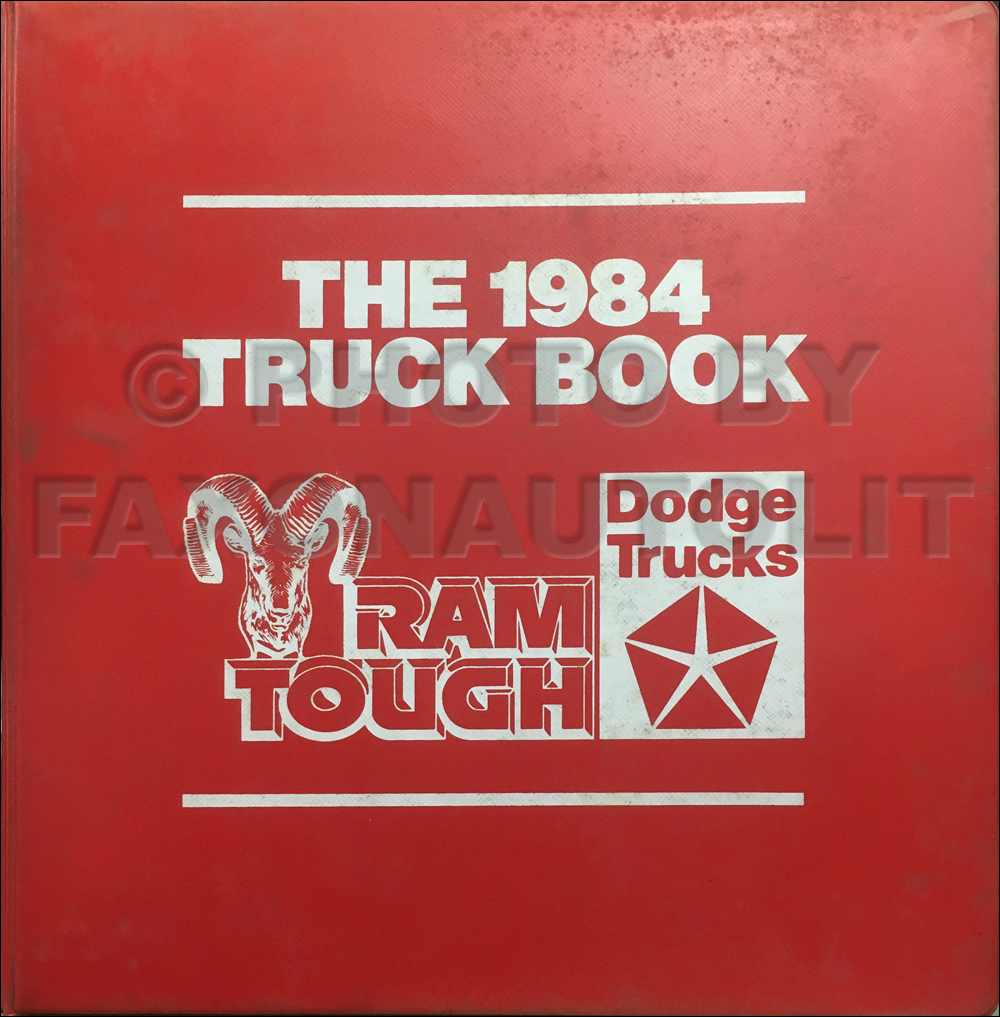 1984 Dodge Truck Data Book with Color and Upholstery Original