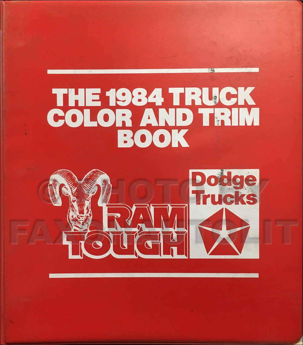 1984 Dodge Truck Color & Upholstery Dealer Album Original