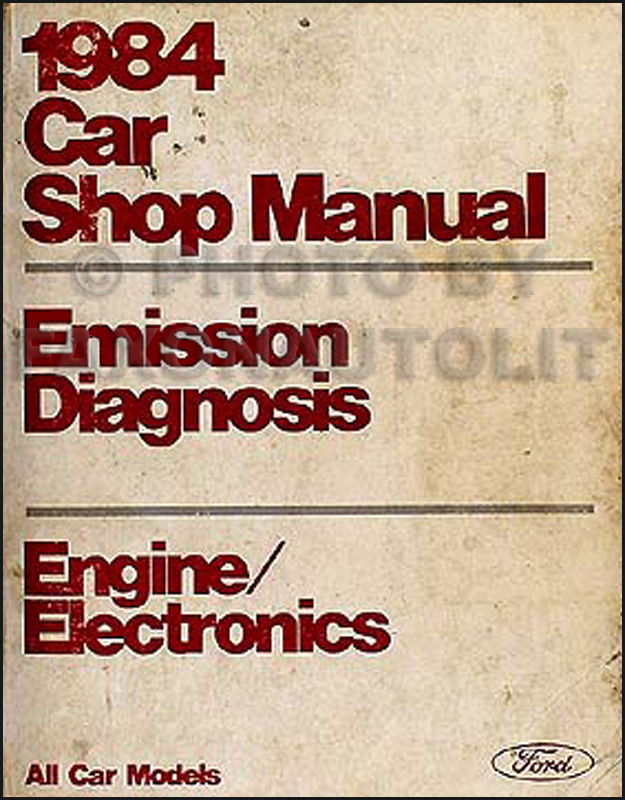 1984 Ford Lincoln Mercury Original Engine Diagnosis Manual All Cars