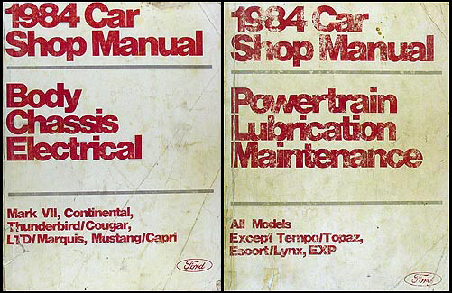 1984 Ford Lincoln Mercury Car Repair Shop Manual Volumes B & D