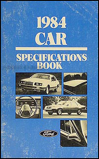 1984 Ford Lincoln Mercury Service Specifications Book Original