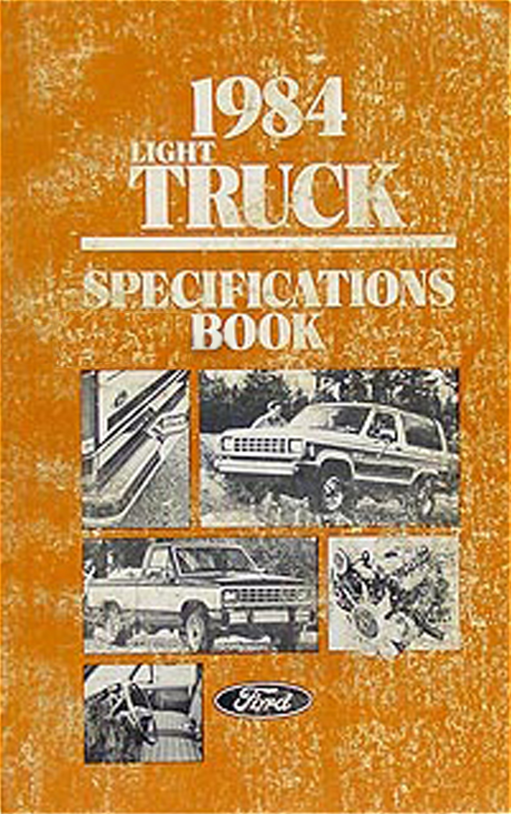 1984 Ford Pickup and Van Service Specifications Book Original