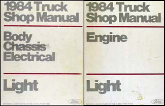 1984 Ford Truck Van Repair Shop Manual Econoline F150 F250 F350 Bronco Set