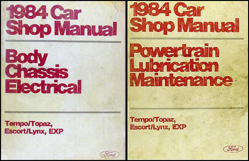 1984 Tempo Escort EXP Topaz and Lynx Repair Manual Original Set