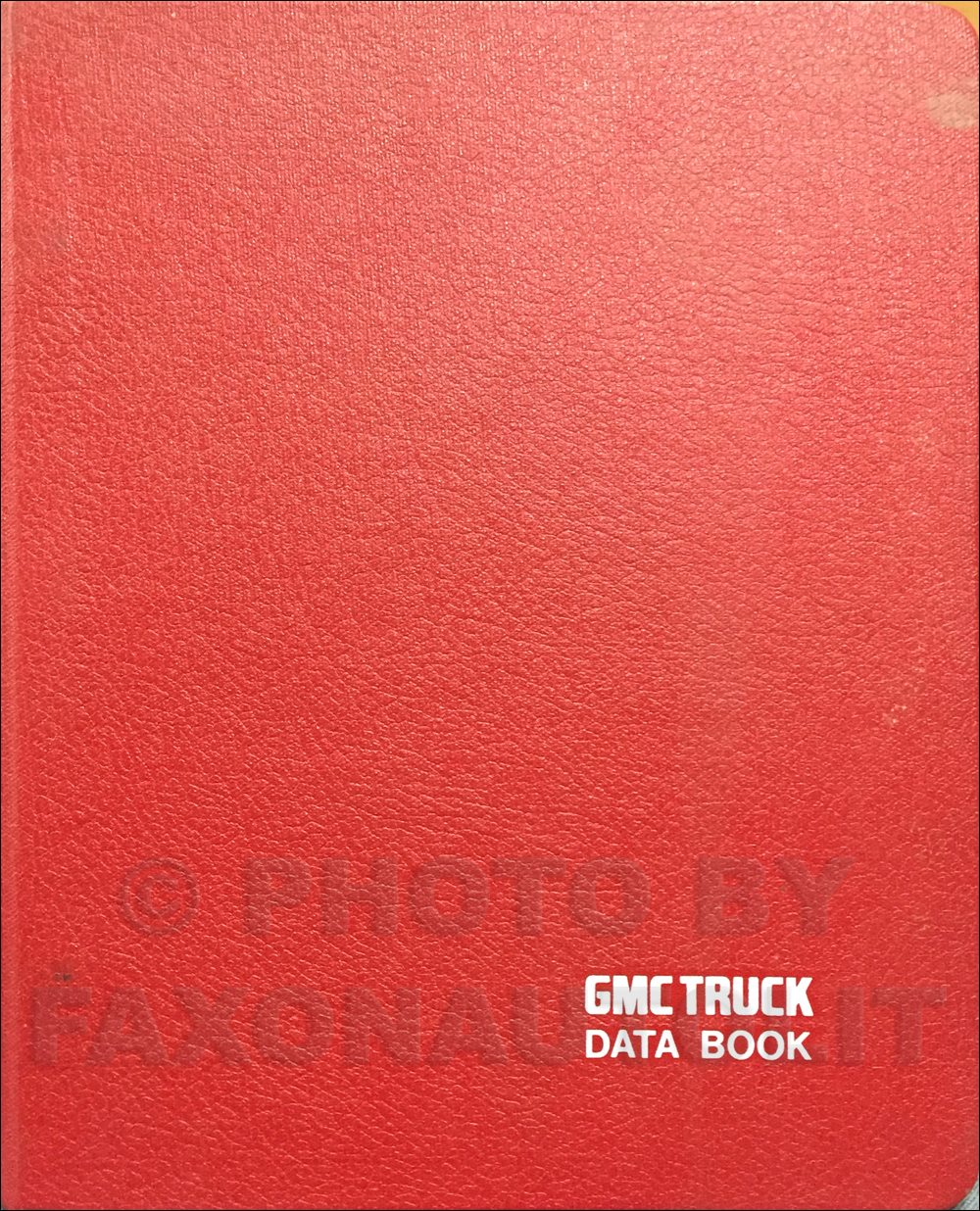 1984 GMC Light Duty Data Book Original