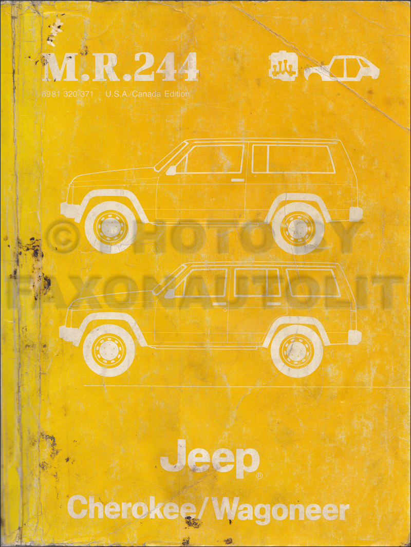 1984 Jeep Cherokee Wagoneer Original Wiring Diagram Schematic 84 1986 Comanche Related Products