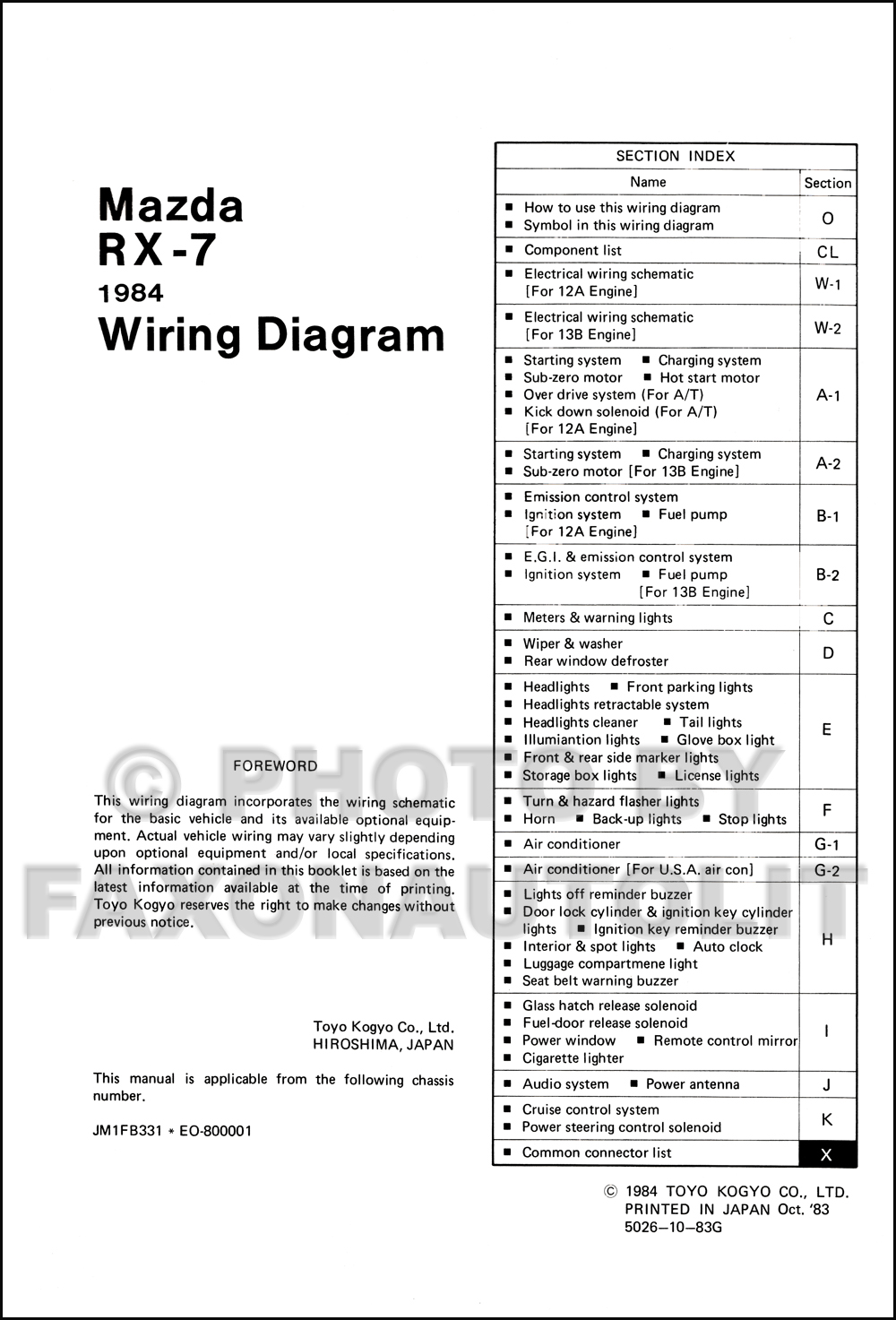 wrg 6981] mazda rx 7 wiring diagram1984 mazda rx 7 wiring diagram manual original rx7 click on thumbnail to zoom