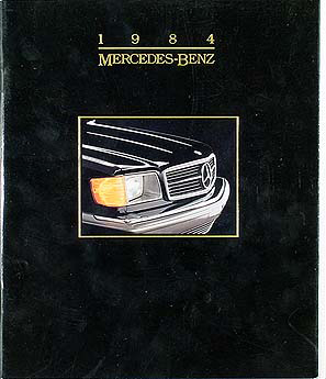 1984 Mercedes Original Sales Catalog 84 190/300/380/500