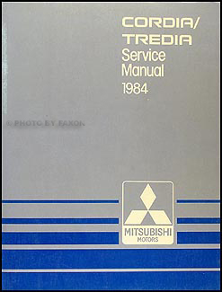 1984 Mitsubishi Cordia/Tredia Repair Manual Original