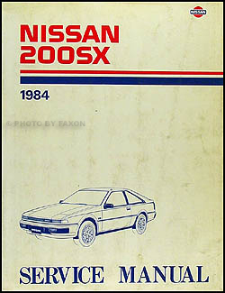 1984 Nissan 200SX Repair Manual Original