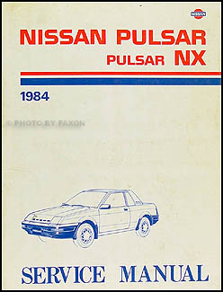 1984 Nissan Pulsar NX Repair Manual Original