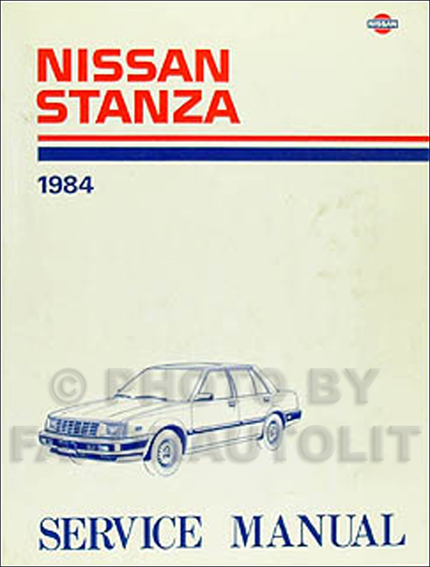 1984 Nissan Stanza Repair Manual Original