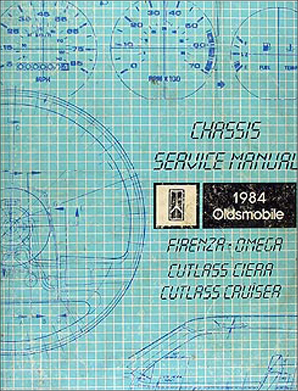1984 Olds Firenza Omega Cutlass Cruiser Ciera Repair Shop Manual Original