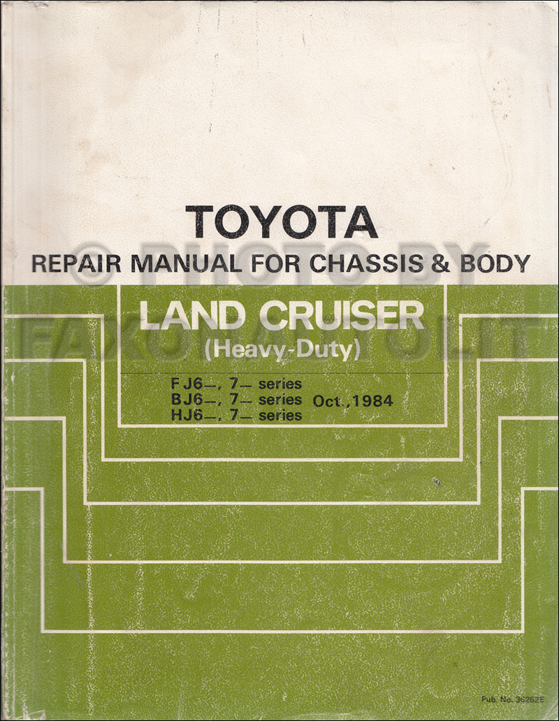 Wiring Diagram 1984 Toyota Fj60 1985 Land Cruiser Repair Shop Manual Original Supplement
