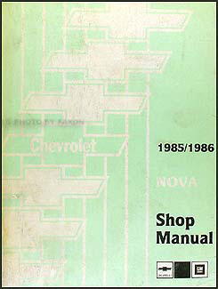 1985-1986 Chevy Nova Shop Manual Original