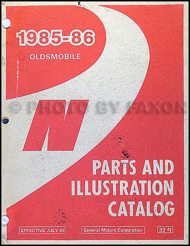 1985-1986 Oldsmobile Calais Parts Book Original