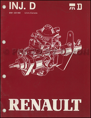 1983-1987 Jeep & Renault Diesel Fuel Injection Overhaul Manual Original