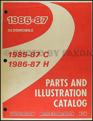 1985-1987 Oldsmobile 98 and 86-87 Delta 88 Parts Book Original