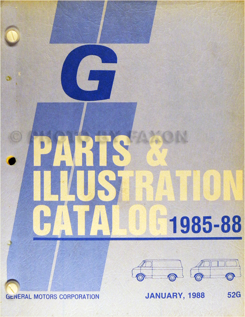 1985-1988 Chevrolet and GMC Full-Sized Van Parts Book Original