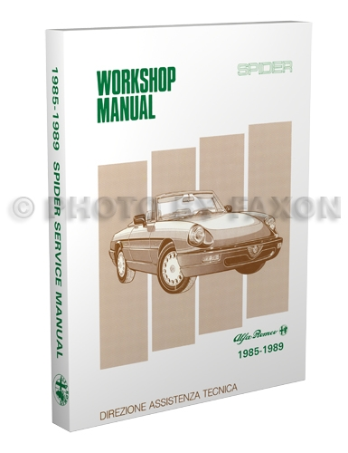 1985-1989 Alfa Romeo Spider Shop Manual Reprint