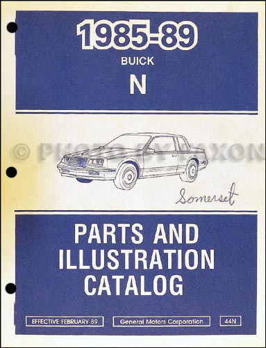 1985-89 Buick Skylark Parts Book Original