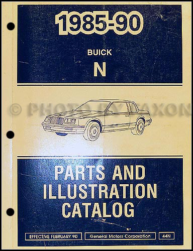 1985-90 Buick Skylark Parts Book Original