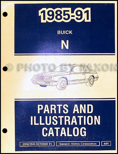 1985-91 Buick Skylark Parts Book Original