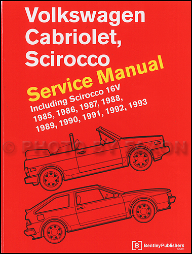 1985 1993 vw cabriolet and scirocco bentley repair shop manual rh faxonautoliterature com 1986 vw cabriolet repair manual Volvo Cars