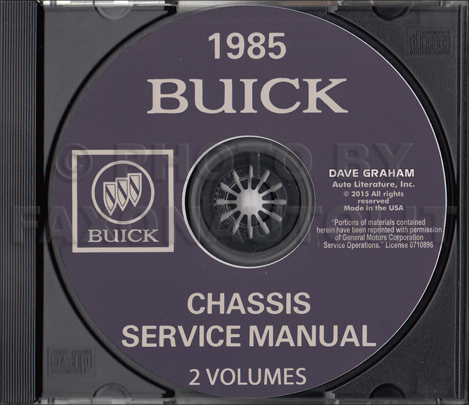 1981 Buick Shop Manual CD-ROM
