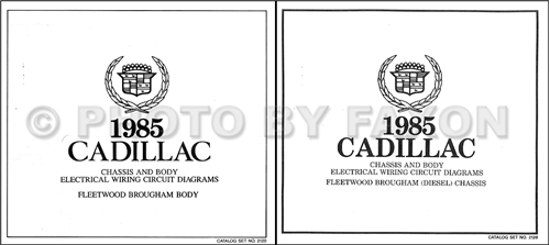 1985 Cadillac Fleetwood Brougham Diesel Foldout Wiring Diagrams Original Color Set