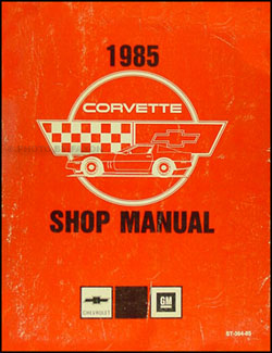 1985 Corvette Shop Manual Original