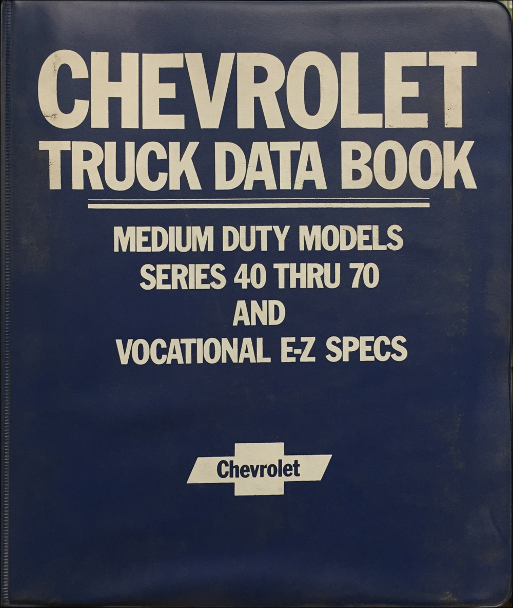 1985 Chevrolet Medium Duty Truck Data Book Original