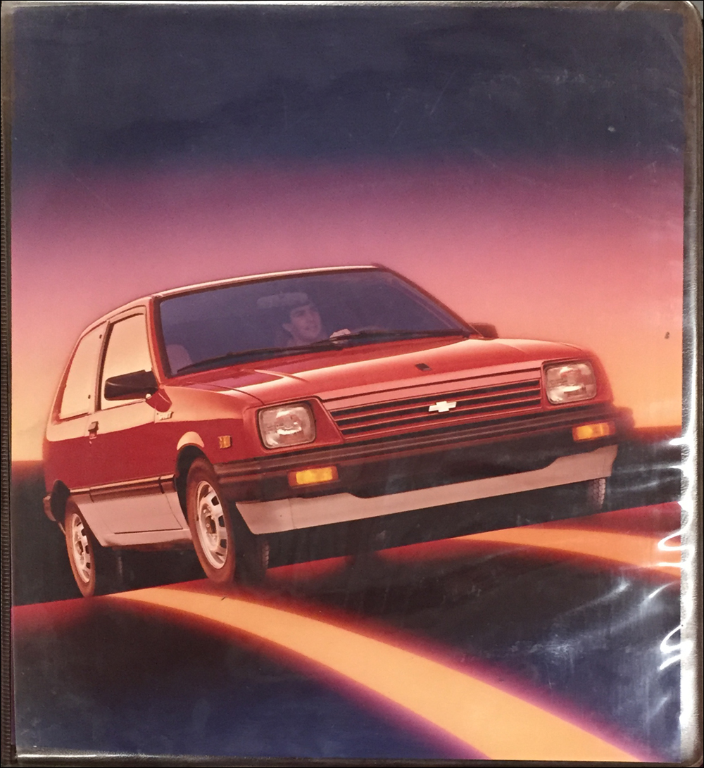 1985 Chevrolet Sprint Technical Press Kit Original