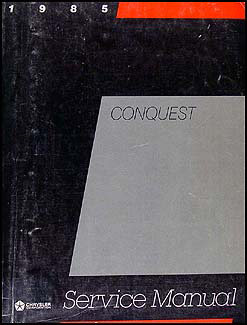 1985 Dodge & Plymouth Conquest Shop Manual Original