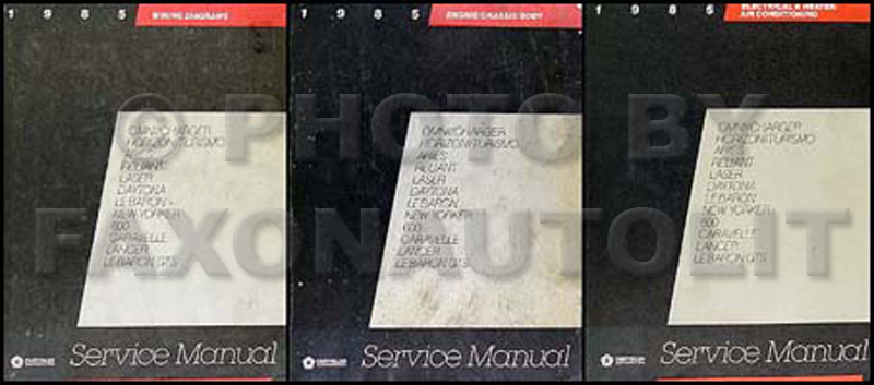 1985 MoPar FWD Car Repair Manual 3 Vol Set