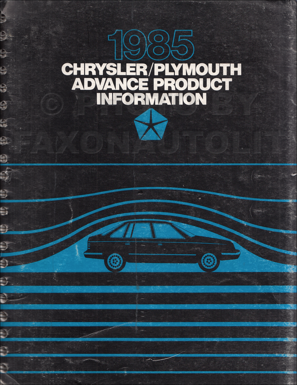 1985 Chrysler Plymouth Advance Color and Upholstery Album Data Book Original