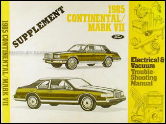 1985 2.4 Diesel Continental and Mark VII Electrical Troubleshooting Manual Supp.