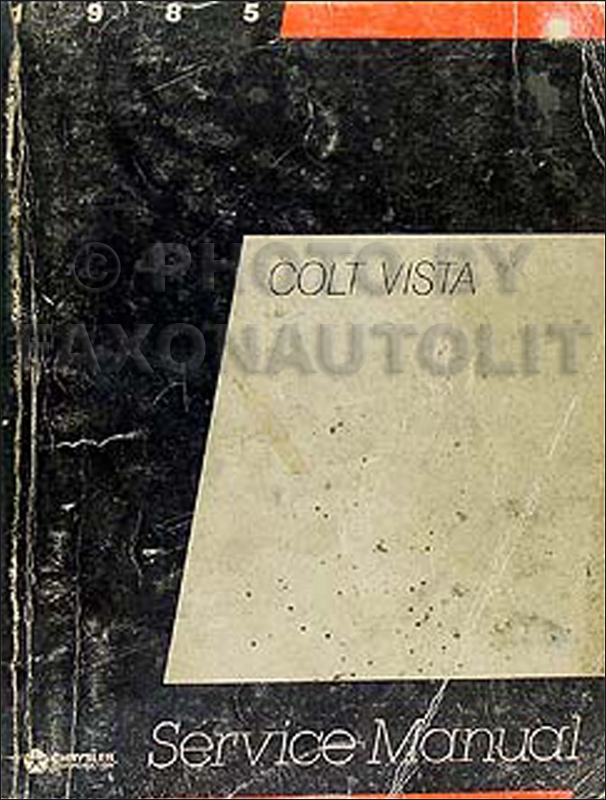 1985 Colt Vista Shop Manual Original