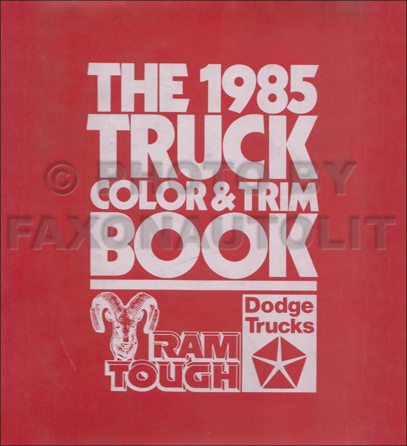 1985 Dodge Truck Color & Upholstery Dealer Album Original