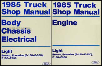 1985 Ford Truck and Van Repair Shop Manual E F 150-350 Bronco F-Super Duty Econoline