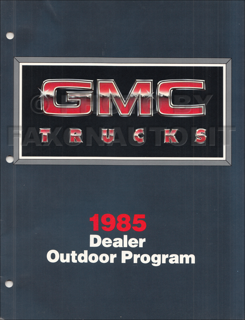 1985 GMC Dealer Billboard Catalog Original
